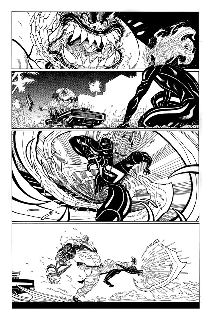 Some inks from ALL-NEW GHOST RIDER #4. Available now! Written by Felipe SmithArt by Tradd Moore