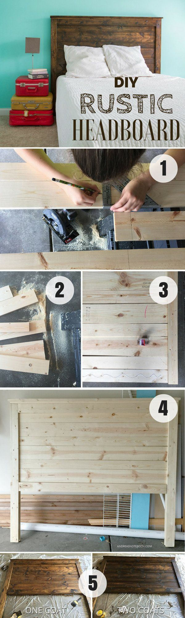 Check out how to build this easy DIY Rustic Headboard @istandarddesign