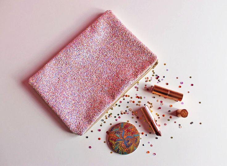 Pink Iridescent Glitter Clutch Bag, Sparkly Rainbow Glitter Bag, Pastel Spring Wedding Clutch, Pink Iridescent Party Bag, by SukiSaburDesigns on Etsy https://www.etsy.com/uk/listing/463875010/pink-iridescent-glitter-clutch-bag