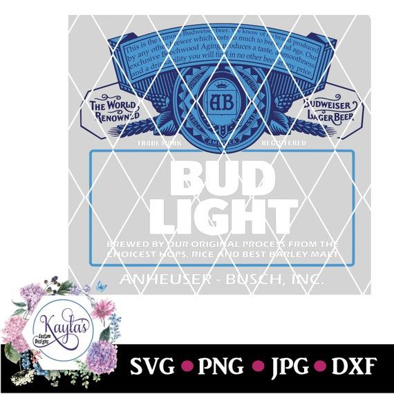Bud Light Can Logo Tumbler Decal Png Svg Dxf Instant Download Waterslide Clip Art Silhouette Bud Light Can Tumbler Decal Bud Light