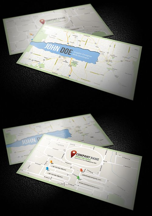 8 best business cards addresses street maps images on pinterest new corporate business cards reheart Gallery