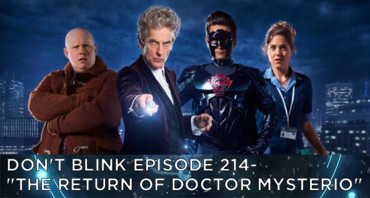 """I was invited to join in on GSM's """"Don't Blink"""" #DoctorWho podcast, with Geoff Gentry and Cory Metcalfe, to talk about the latest Doctor Who Christmas special AND that awesome teaser trailer for the upcoming season!!! Hear the fun in iTunes, on Android, and at http://www.goldenspiralmedia.com/db-214-dont-blink-episode-214-the-return-of-doctor-mysterio"""