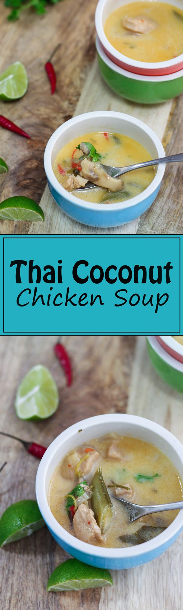 This Thai Coconut Chicken Soup is delicious! I have never tasted a soup that delivers so many flavors in just one bowl. T