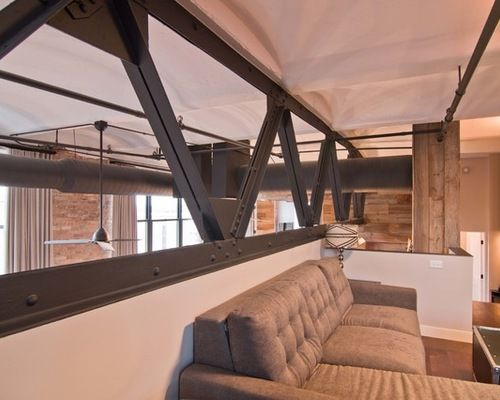 Exposed Steel Trusses Home Design Ideas, Pictures, Remodel and Decor