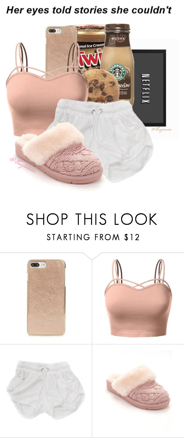 """"""""""" by tasjanae ❤ liked on Polyvore featuring Disney, Kate Spade, J.TOMSON and UGG"""