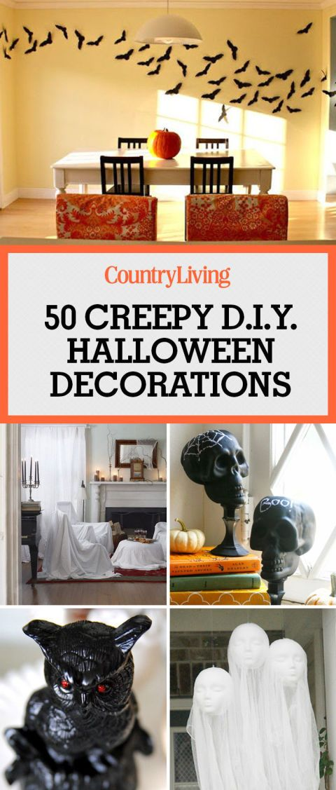 40 quick and easy diy halloween decorations - Diy Halloween Decorations For Kids