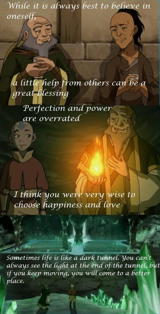 Life lessons from Uncle Iroh --- Even though hes not real, Uncle Iroh has some of the greatest quotes ever:)