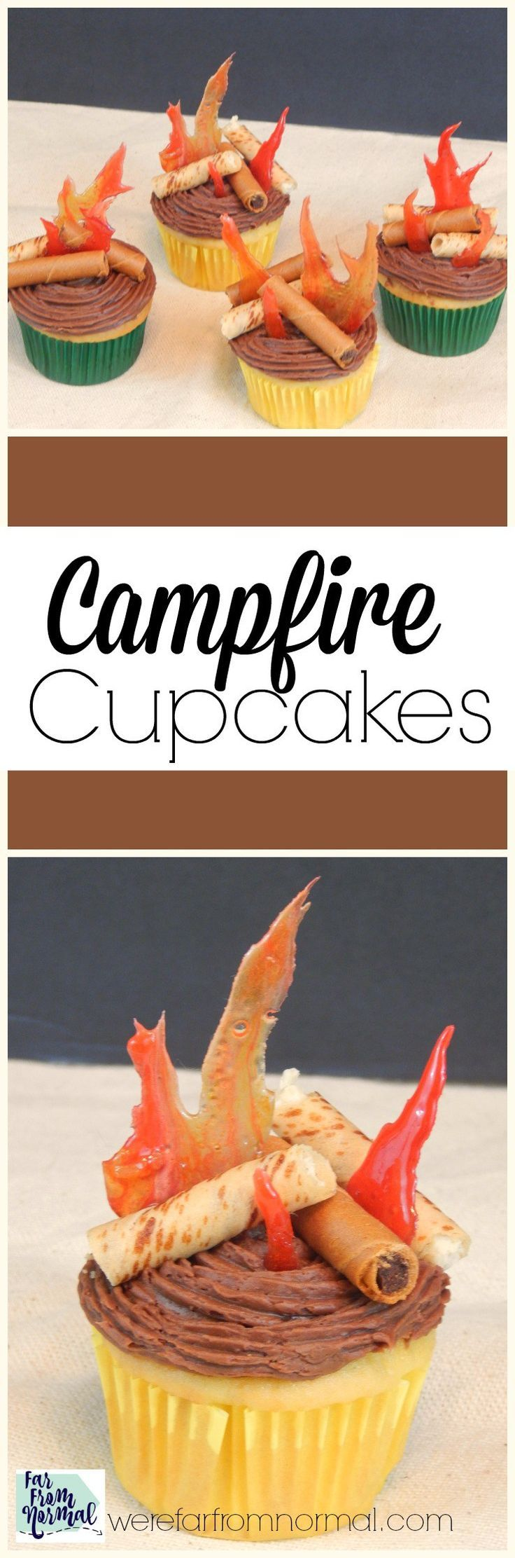 Are you planning a camping trip, an outdoor party, or camping birthday party? Whatever the event these campfire cupcakes make an amazing addition!