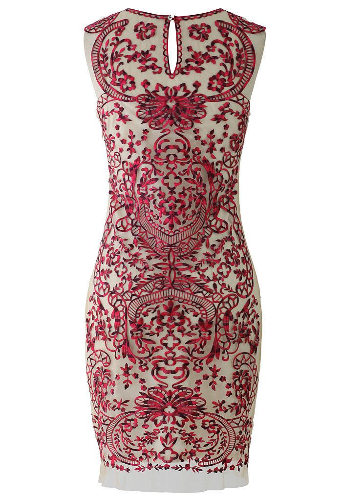 Devotion Embroidered Sleeveless Party Dress