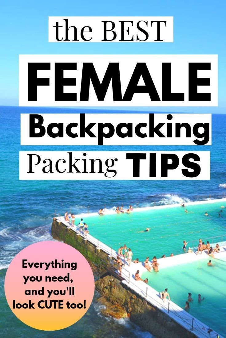 The Best FEMALE Backpacking Packing TIPS ❤