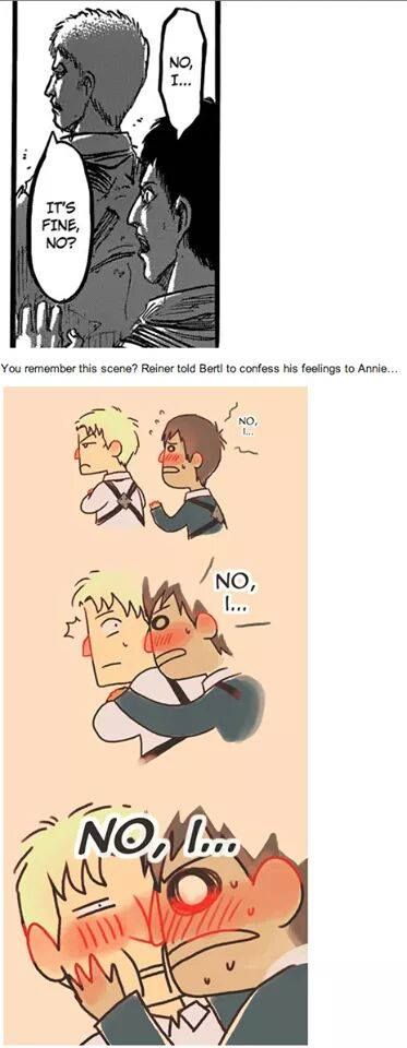 Well... This will sink my ship. | Reiner Braun | Bertholdt Hoover | Annie Leonhardt | Attack on Titan | Shingeki no Kyojin