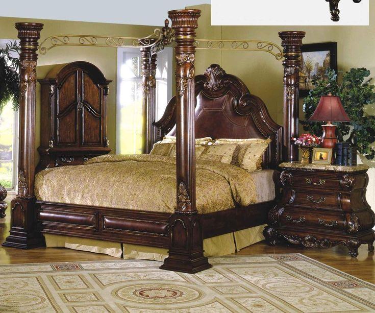 mcferran b9088 ck monaco cherry california king on Mcferran Canopy Bed id=28155
