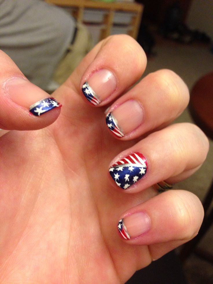 cute memorial day nails