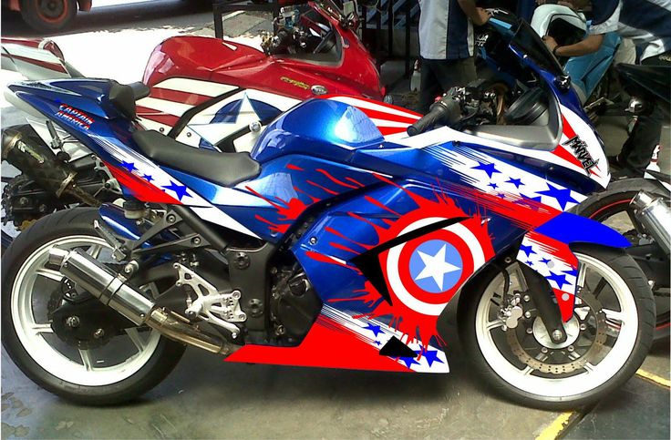 Best Kawasaki Zx6r Fairings - Cheap Paint Captain America Fairing Kit for Kawasaki Ninja Online with $450.0| DHgate