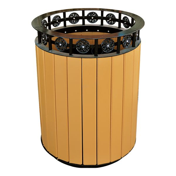 Norwood Commercial Furniture Recycled Plank Outdoor Trash Can W