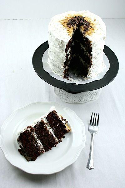 S'mores Cake. Dark Chocolate.