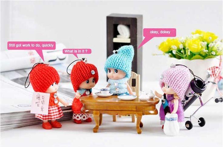 3 stks 8 cm Kinderen Speelgoed Zachte Interactieve Baby Poppen Speelgoed Mini Pop Voor Meisjes Gratis Verzending GYH