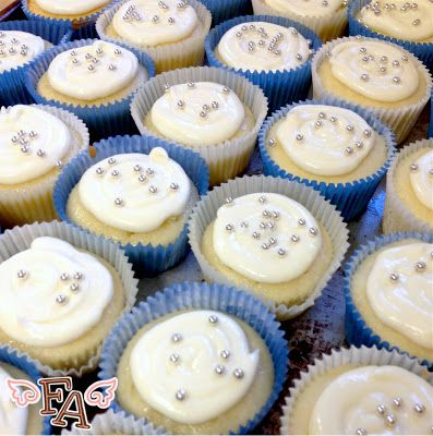 Doctor Who | Rose Cupcakes with Edible Ball Bearings by Fiction Food