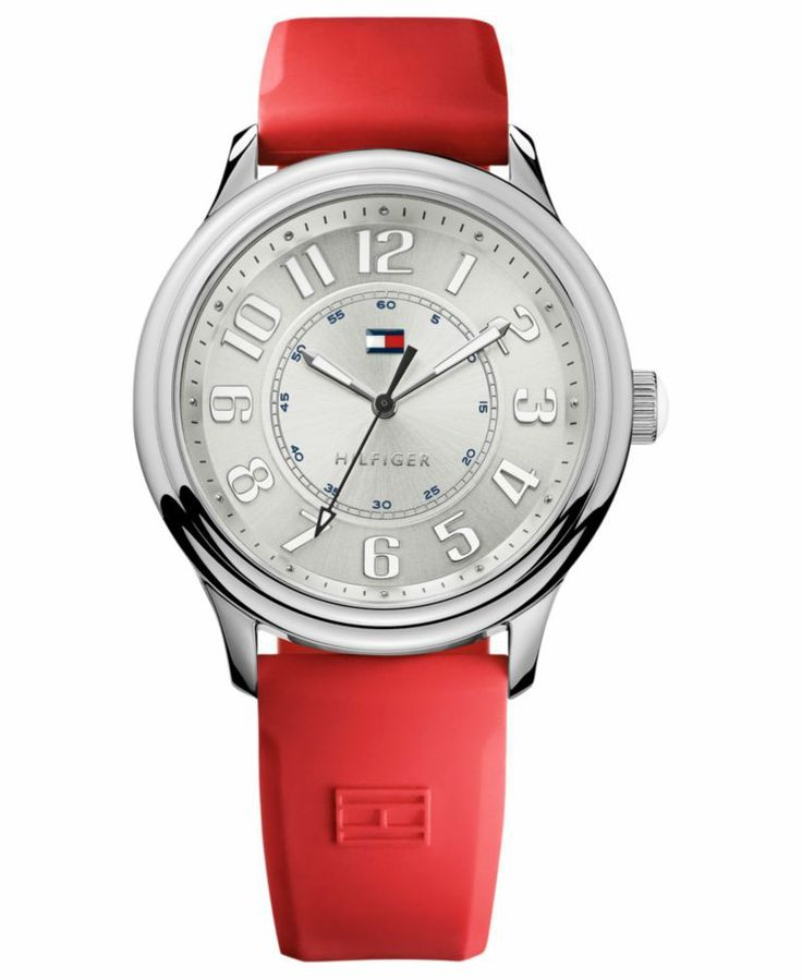 Tommy Hilfiger - Women's Red Silicone Strap 40mm 1781287