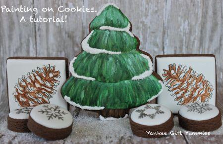 Painting on Cookies, A Tutorial. Yankee Girl Yummies