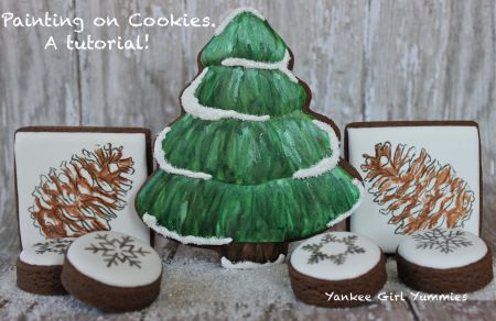 Painting on Cookies, A Tutorial. Yankee Girl Yummies