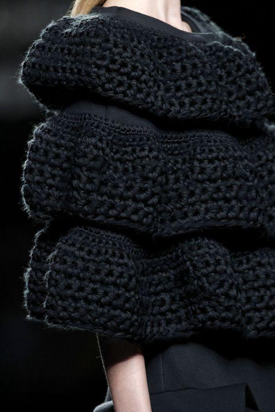 black chunky knitwear styling 02
