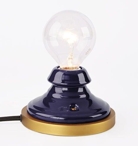 Porcelain Mini Accent Lamp Cobalt | Was $99 A0353