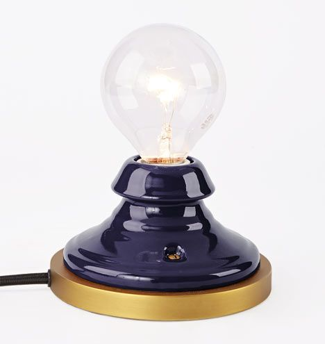 Porcelain Mini Accent Lamp Cobalt | Was $99 A0353