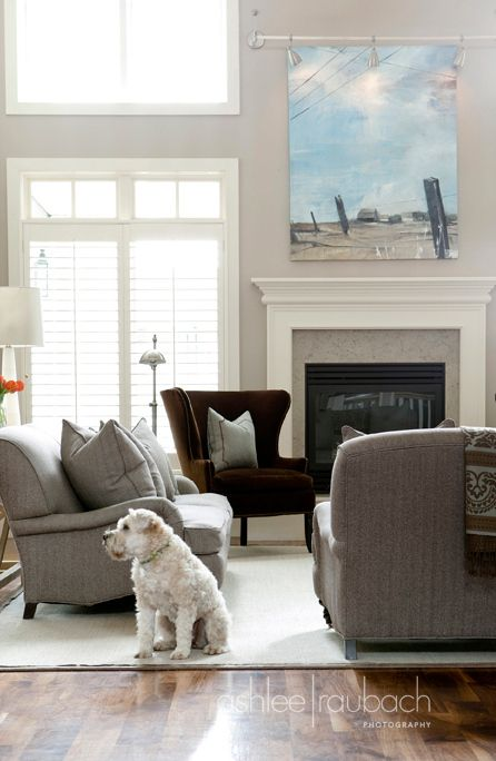 Its Still Possible To Have A Dark Chair And Bright Room Thank Goodness Grey Sofa DecorGrey CouchesLiving