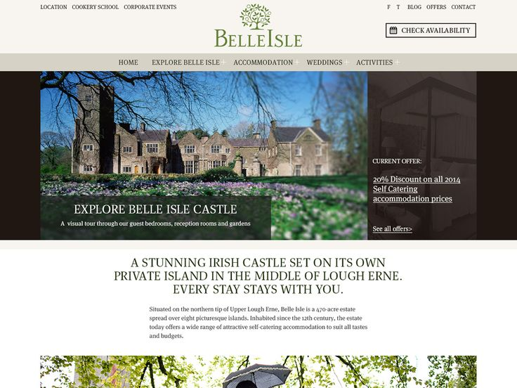 Visit Belle Isle Castle. A private island with an Irish castle on the shores of Lough Erne, Fermanagh. Book a self catering holiday or plan your wedding.
