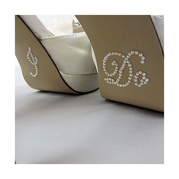 I Do Shoe Sticker for Bride in Pearl Rhinestone Great for Wedding... ($4.99) ❤ liked on Polyvore