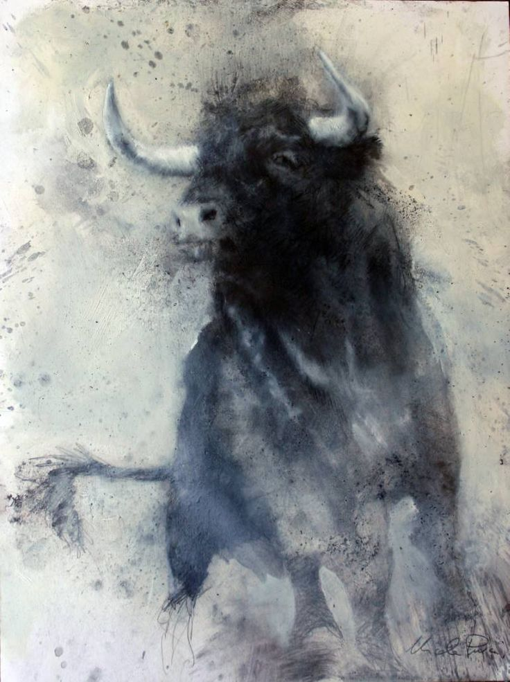 "Saatchi Art Artist Nicola Pucci; Drawing, ""Bull 3"" #art"
