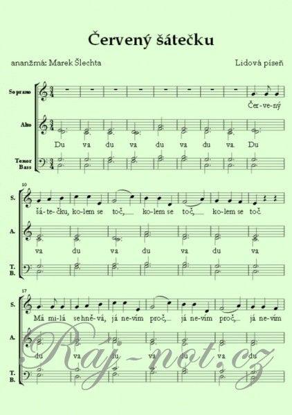 Červený šátečku / SATB a cappella