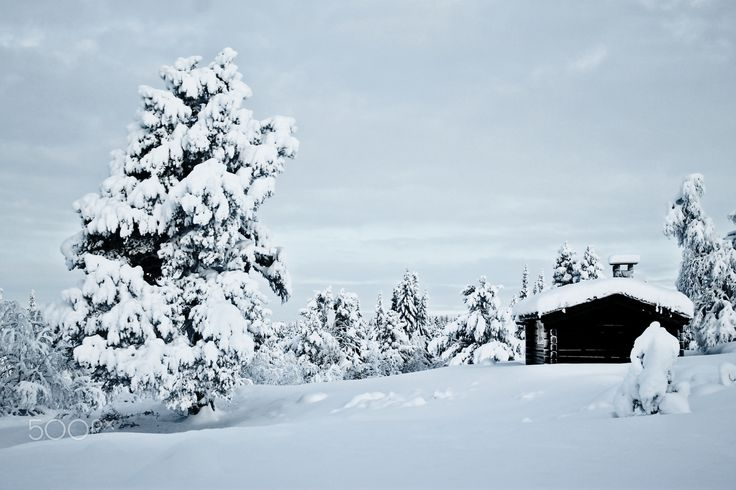Hut in Norway - A smal hut in a pleasant and cold environment.