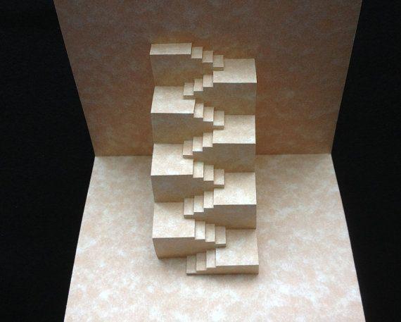 Объемная открытка ступеньки