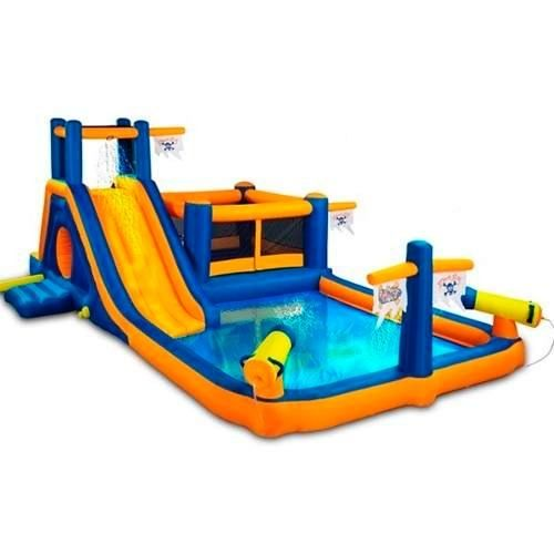 14 best albercas inflables images on pinterest pools for Trampolin para piscina