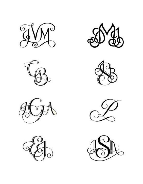 I like with my kids initials unique monogram initial tattoos – Robin Drury