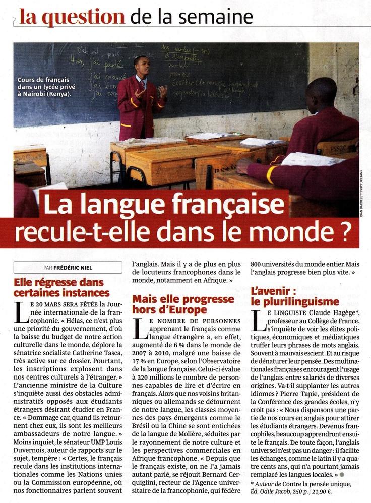 Où en est la langue française dans le monde?
