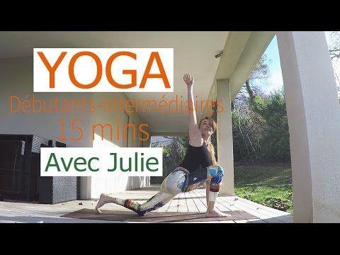 Cours de yoga débutants de 15 mins - YouTube