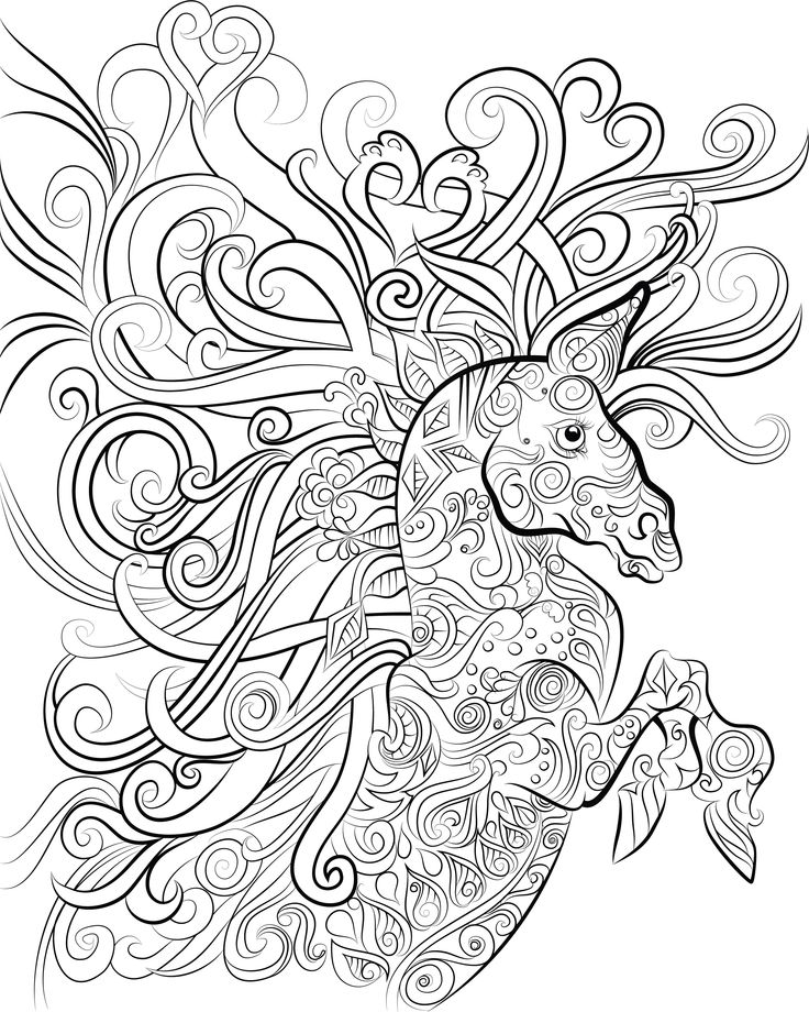 intricate horses coloring pages 45 best eagles amp thunder bird tatts images on 4761