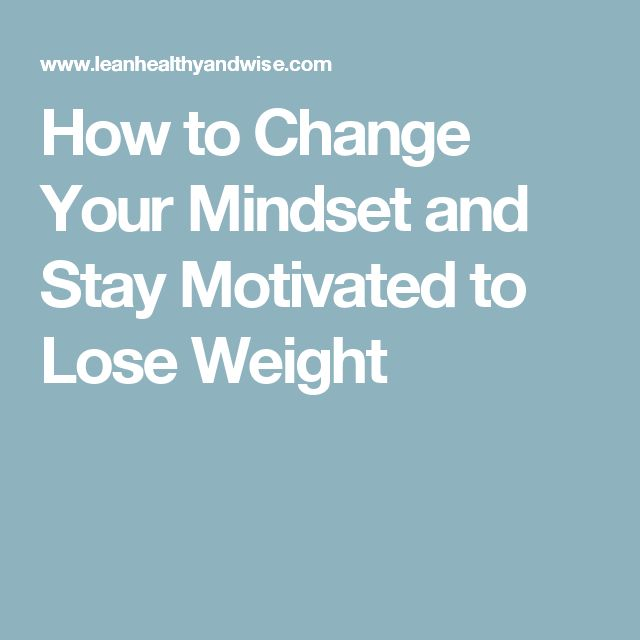weight loss mindset change