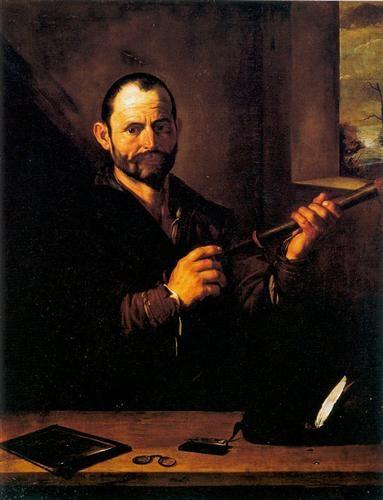 RIBERA - Alegoria de la vista / c. 1613.- oil on canvas. 114 × 89 cm.