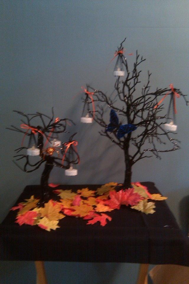centerpieces for a halloween wedding - Halloween Wedding Centerpieces
