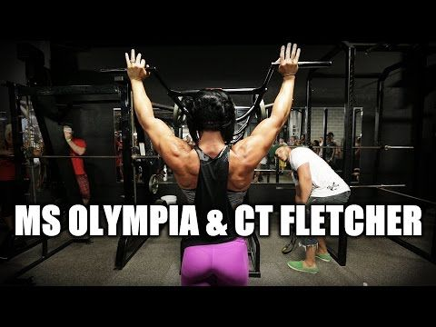 CT FLETCHER TRAINS MS. OLYMPIA DLB - YouTube