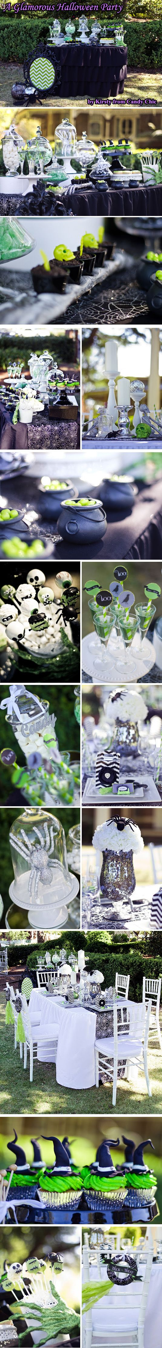 A Glamorous Halloween Party by Kirsty from Candy Chic. Halloween Fashionista Fabulous Witches Theme Party & Decorating Ideas