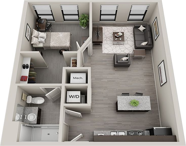 image result for floorplan one bed apartment san francisco