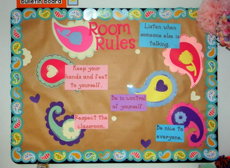 Math Classroom Decorations Middle School ~ Classroom decorating themes rules bulletin