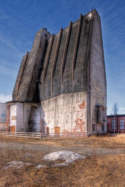 Alvar Aalto silo in Oulu, Finland