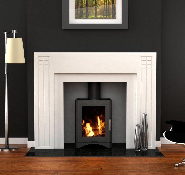 fireplace mantel and surround