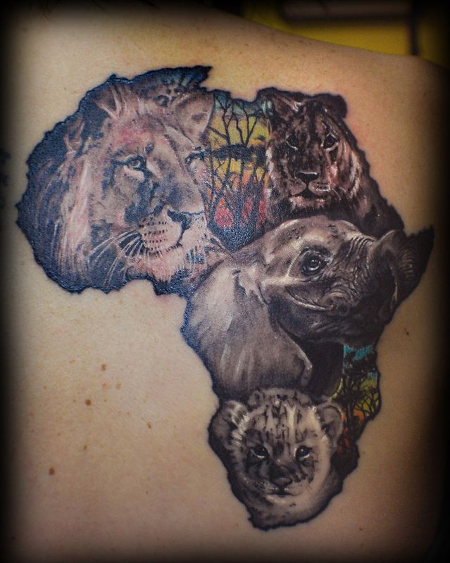 Beautiful Africa Tattoo